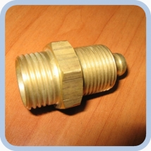 Клапан обратный в сборе, переходник ЦТ129М.03.002-01