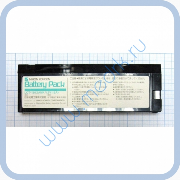 Аккумулятор LCT-1912ANK 12V 1.9Ah для ЭКГ Nihon  Вид 2