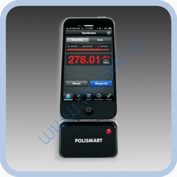 Сигнализатор-индикатор гамма-излучения POLISMART II PM1904 для iPhone 4  Вид 2