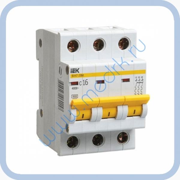 Выключатель автоматический ИЭК ВА47-29 16А 3П для АЭ-10 МО  Вид 1