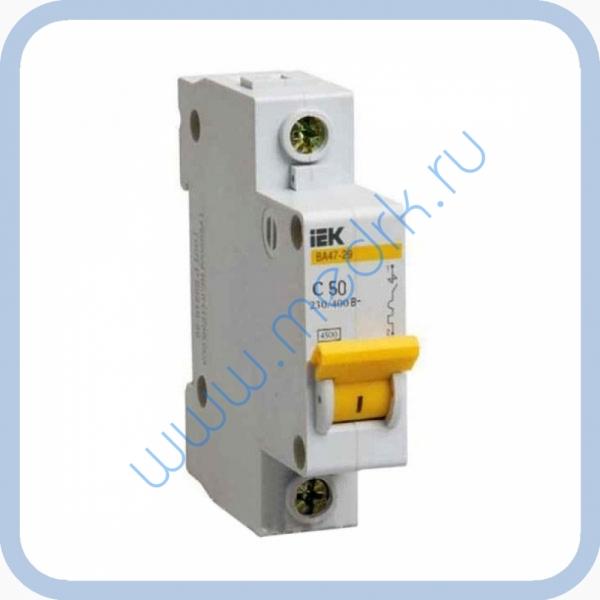 Выключатель автоматический ИЭК ВА 47-29 50А 1Р для АЭ-10 МО  Вид 1