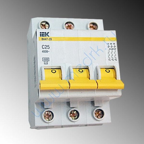 Выключатель ИЭК ВА47-29 25А 3П для ГК-100-4/100-5  Вид 1
