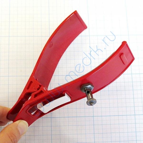 Электрод конечностный (взрослый) с винтом и зажимом, КНР (прищепка)  Вид 6