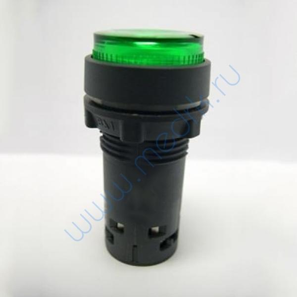 Кнопка с подсветкой с фиксацией зеленая 230В, 50Гц, ХВ7ЕН03М1Р  Вид 1