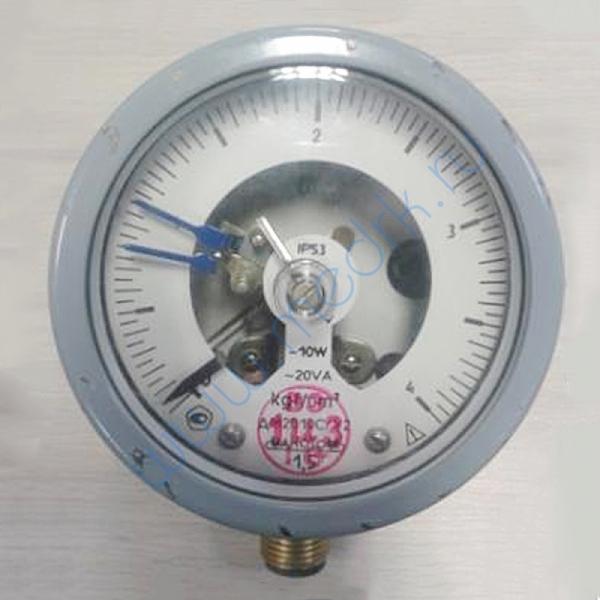 Мановакууметр ДА2010 СгУ2-1.5-0.5 МПа-IР53 V-радиальный  Вид 1
