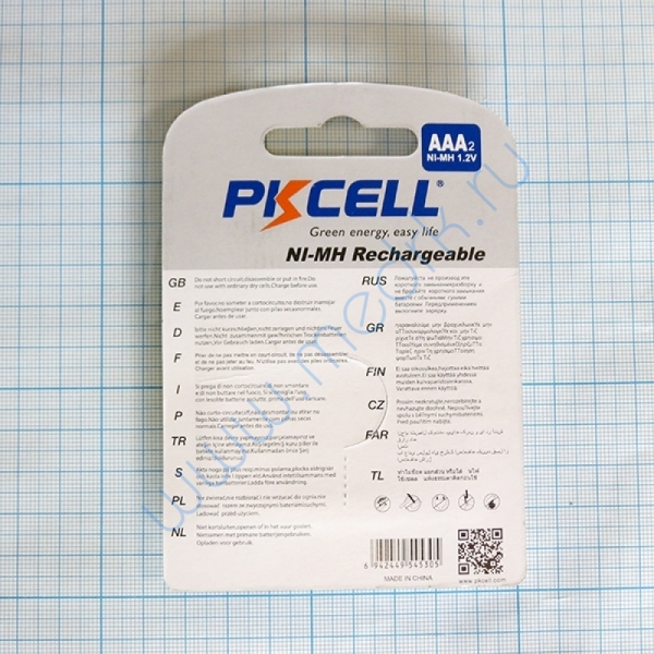 Аккумулятор AAA/LR03 Ni-Mh BL2, PKCell  Вид 2